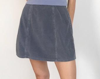 Vtg 90s Express corduroy skirt 6