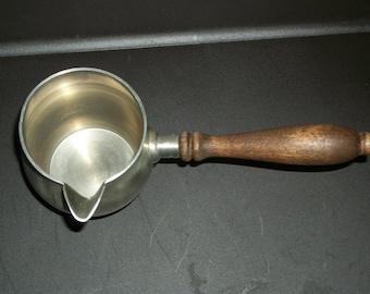 Vintage Preisner Pewter Spout, pourer with wood handle, Pewter 2156 , gravy pourer, soup server