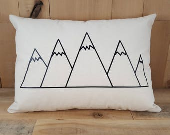Mountain Throw Pillow, Mountain, Mountain Pillow, Colorado, Colorado Gifts, I'm Outdoorsy, Outdoorsy Gifts, Gift for Hiker, Throw Pillows
