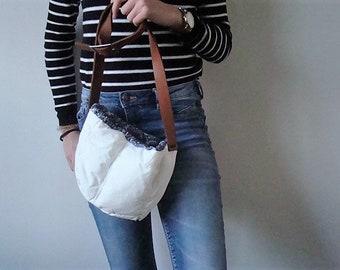 Eco bag 100% re-used materials, jacket bag,Italian-Dutch eco design,unique gift for her. JJePa