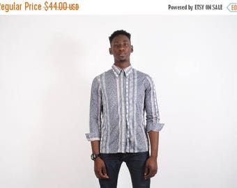 FINAL SALE - 70s Vintage Polyester Shirt - 70s Disco Shirt - Mens Floral Shirt - Mens Button Up Shirts -  1735