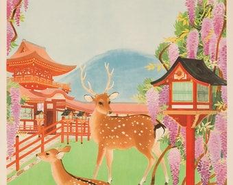 Japan c. 1934 - Vintage Poster (Art Print - Multiple Sizes Available)