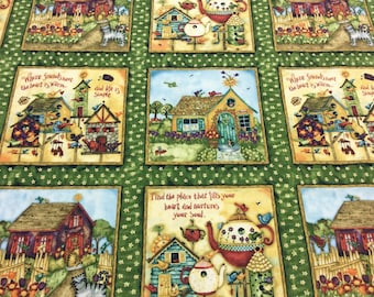 Home Sweet Home Squares 23253 SPX Patchwork Quilting Fabric