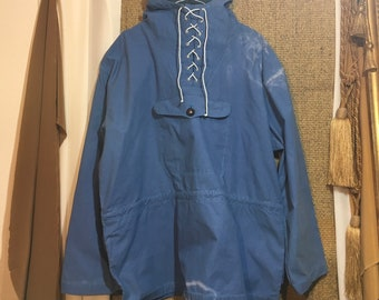Vintage 1970's Anorak Pullover Parka Jacket With A Hood Size XXL