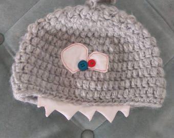 Shaaaaaark!!!.... Cute crochet beanie hat! Made to order