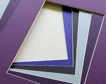 11x14 Assorted Purple Matting - Single Mat Pack of 5 - for art prints and photography