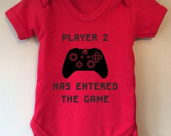 Player 2 Has Entered The Game - Gaming Inspired baby body/vest