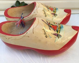 Vintage Holland Woodnen Shoes