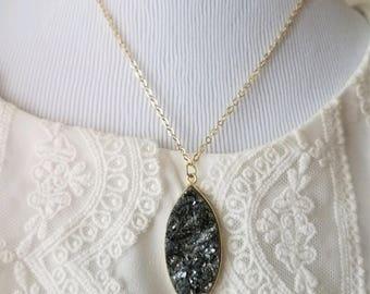 Long Druzy Necklace  | Gold Filled Druzy Necklace | Sparkly Druzy Necklace | Delicate Druzy Necklace | 14k Gold Filled Necklace