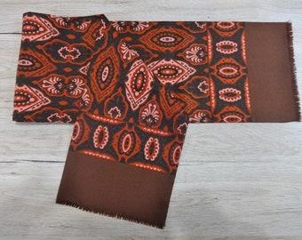 "Vintage Hipster Mens scarf 118cm x 28cm / 46.4"" x 6.6"""