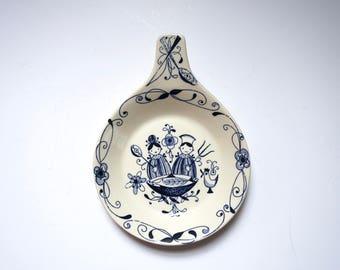 Vintage Ceramic Dish, Mesterkokken, Stavangerflint, Pottery Dish, Inger Waage, Norway, Mid Century, Scandinavian Decor, Chef, Flamingo