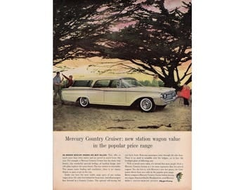 Vintage poster advertisement of a 1960 Mercury Country Cruiser - 37