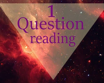 1 question psychic reading || Super quick psychic reading! PDF || Email || 24 hours || Witch || Oracle Cards || Angels |
