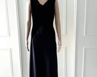 Dusk by Frank Usher dress evening dress party dress red carpet maxi dress 1980's vintage dress ladies dress black size 14