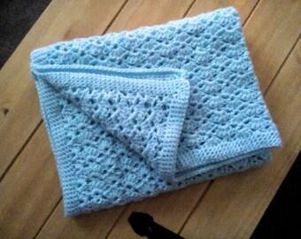 Cutie blue baby blanket