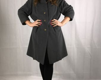 Dimaonds Grey Wool Coat