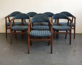 8 Vintage Danish Modern Armchairs - Free NYC Delivery!
