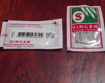 10 needles 100/16 sewing machines, SINGER, size 100 / 16