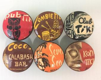 Set of 6 Tiki Bar  Cabinet Knobs