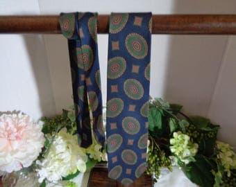 Club 901 Maison Blanche All Silk Navy Green Never Worn Tie Father's Day Dad Designer Ties