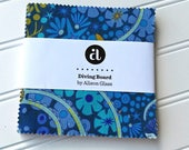 Alison Glass,  Diving Board, Mermaid, 5-Inch Squares  - Andover Fabrics 1S (42) Squares