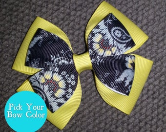 Yellow Floral Handmade Flowers Basic Bow