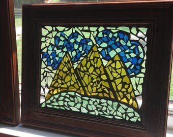 Mountain Air Recycled Glass Mosaic
