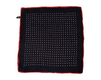Vintage men handkerchiefs 100% pure silk pocket kerchief pocket square