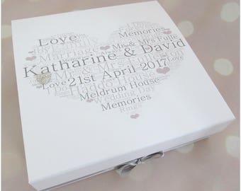 Wedding memory box   Etsy
