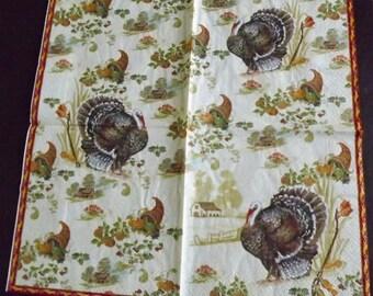 1 paper towel / napkins turkeys, turkeys