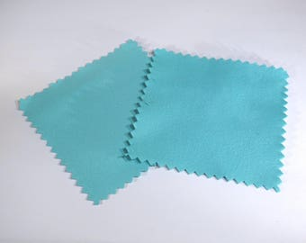10 Jewelry polishing cloth, turquoise color, for sterling silver, antique silver, anti-tarnish (JC151)