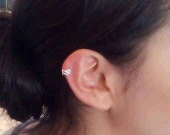SALE Ear Cuff, Ear Cuff Earrings, Sterling Ear Cuff, Celtic Knot Ear Cuff, Minimalist ear cuff, No Piercing Needed