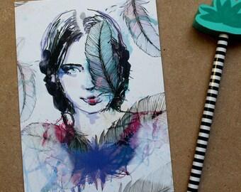 Postcard - Portrait pen - illustration