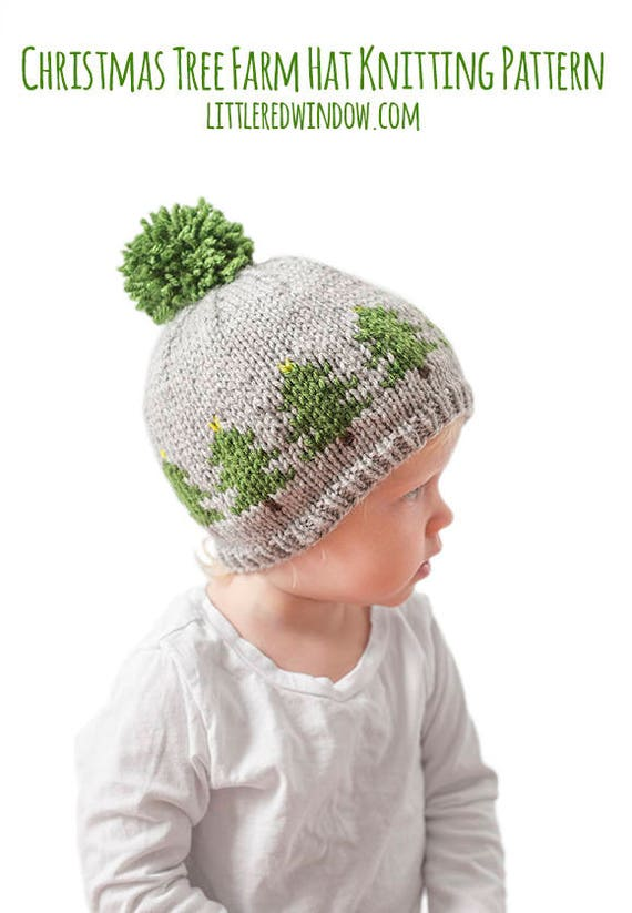 Christmas Tree Hat KNITTING PATTERN / Christmas Pattern /