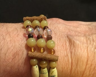 Native American 3-strand tribal bracelet.