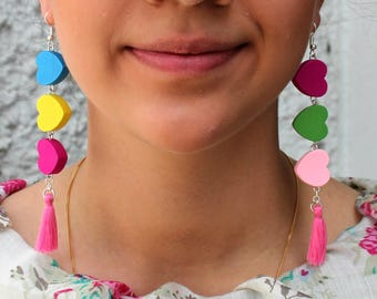 Heartstrings - Mismatched Earrings