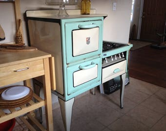 Antique 1920's or 30's Enamel Stove