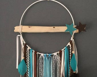 Dream catcher turquoise chocolate Driftwood