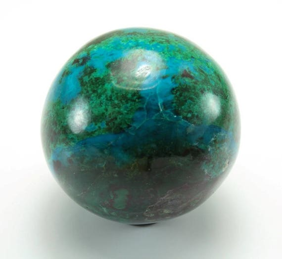 Chrysocolla and Malachite Sphere, M-1378