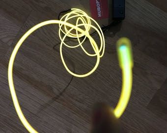 Yellow EL wire 6' ft Led String for light up EL mask EL costume Light Up Robot Cyborg Masquerade Edm Cybernetic Dj Cosplay Rave