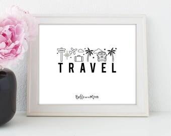 A4 Wall Art Print | Travel