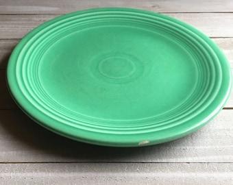 """Vintage Fiesta - 7"""" Dessert / Salad Plate - Green / Light Green"""