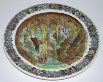Vintage Princess Columns Luray Caverns VA Transferware Plate Jonroth Adams 7 Inch