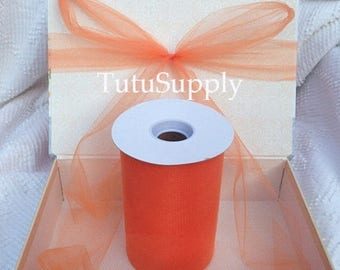 BLOWOUT Orange Tulle Roll, tulle roll, tulle fabric, tulle spool, tutu supply, wholesale tulle, tulle rolls, tutu fabric, tutu supplies
