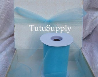 BLOWOUT Light Blue Tulle Roll, tulle roll, tulle fabric, tulle spool, tutu supply, wholesale tulle, tulle rolls, tutu fabric, tutu supplies