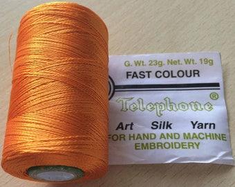 Rayon thread / artificial silk 77 clementine