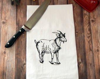 Goat Flour Sack Tea Towel