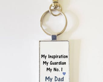 Personalised Dad Keyring