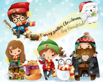 Happy new year water color New year Clipart Instant