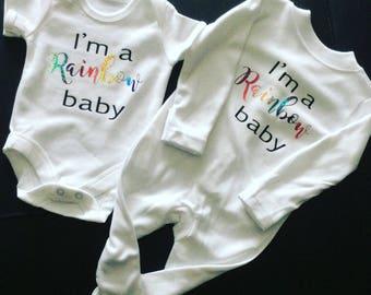 Rainbow baby gift set